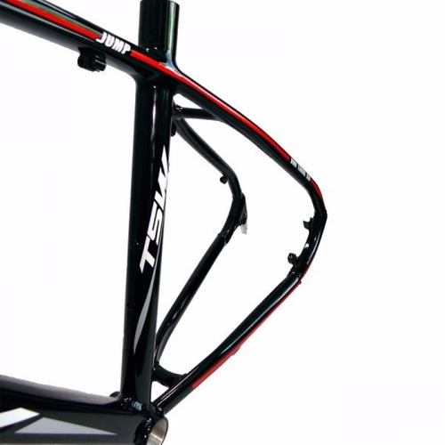 quadro tsw jump 27,5 preto vermelho alumínio mtb tamanho 19