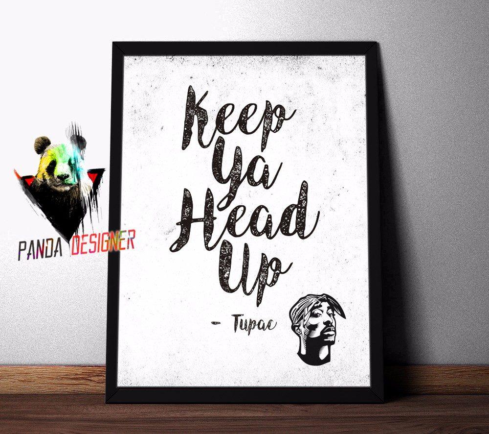 Quadro Tupac 2pac Letra Frases Musica Hip Hop Rap C Vidro R 59