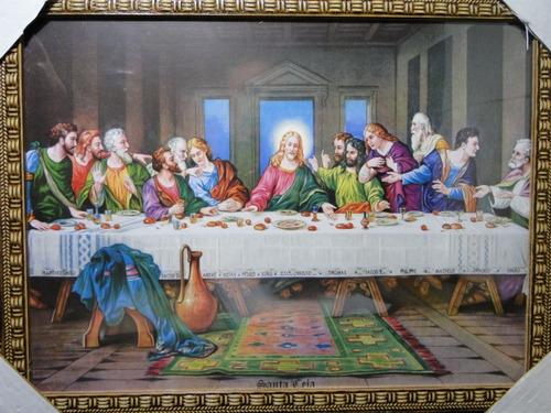 quadro ultima santa  ceia  quadro santa ceia  70 x 50 cm