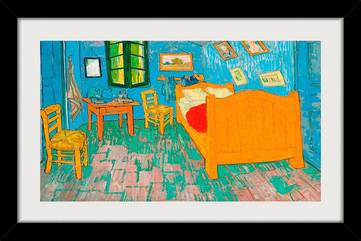 Quadro Van Gogh 68x48cm Quarto Em Arles Arte Decoracao Sala R 225  -> Decoracao Sala De Artes