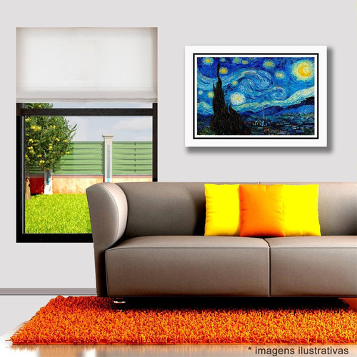 quadro van gogh noite estrelada pinturas paisagens famosas