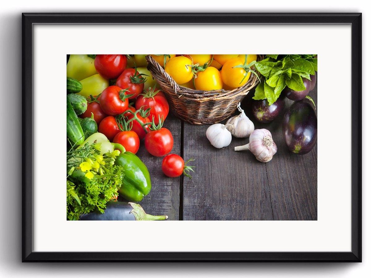 Quadro Vegetais Cozinha Gourmet Rrs6 Decoracao Paspatur R 109 01