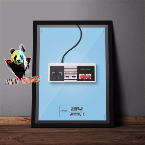 quadro video game retro nintendo 8 bits nerd decoração vidro