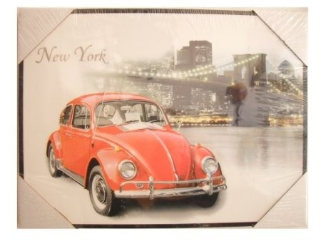 quadro vintage fusca volkswagen world - fusquinha b1