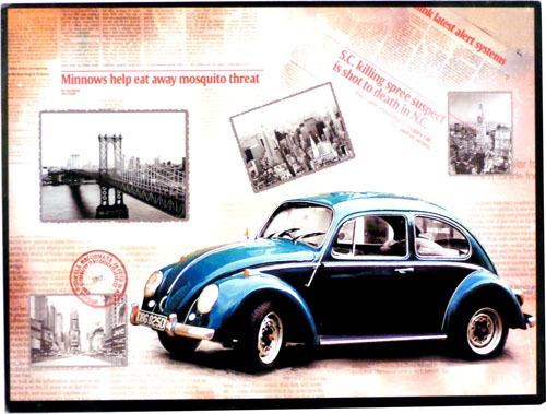 quadro vintage old car mod fusca
