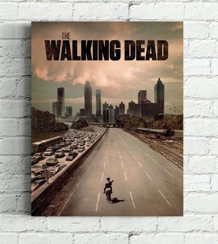 quadro walking dead impresso em tela de pintura