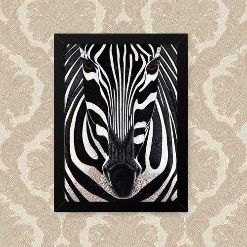 quadro zebra 33x43cm