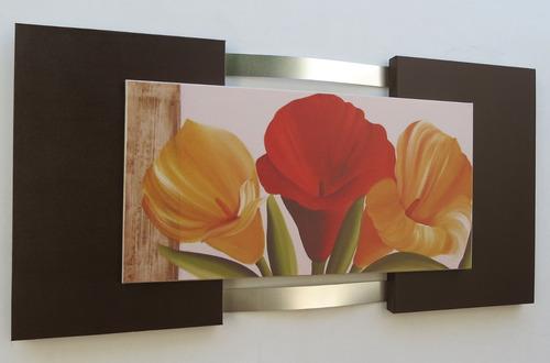 quadros abstratos  flores salas quartos escritórios promoção