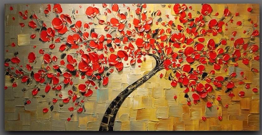 Pinturas em quadros abstratos modernos