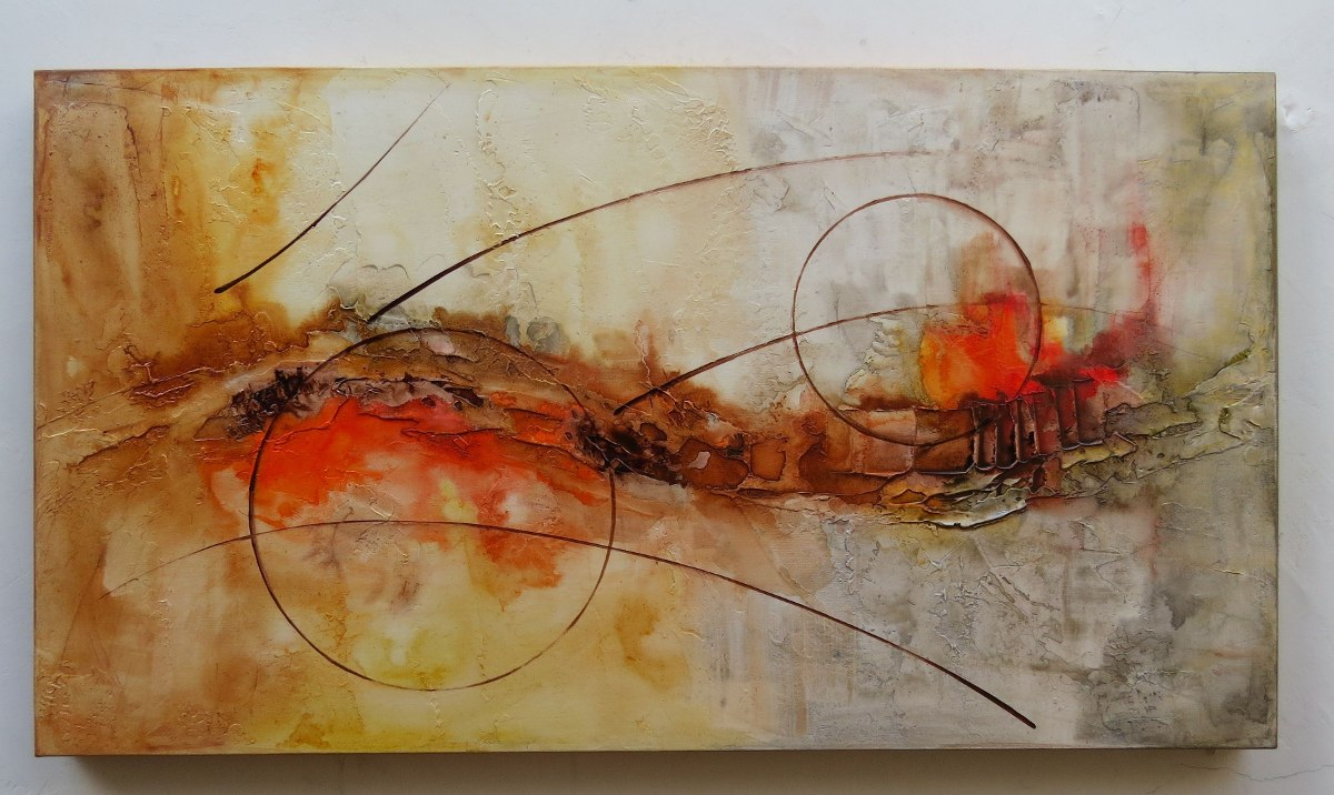 Quadros Abstratos Salas Quartos Escrit Rios Promo O R 259 00 Em  -> Quadro Abstrato Pra Sala Barato