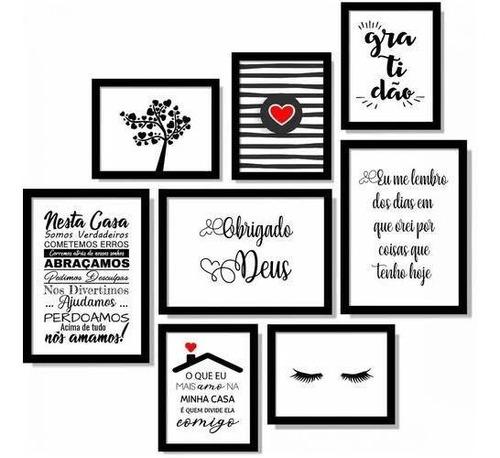 quadros com moldura de papel kit com 10