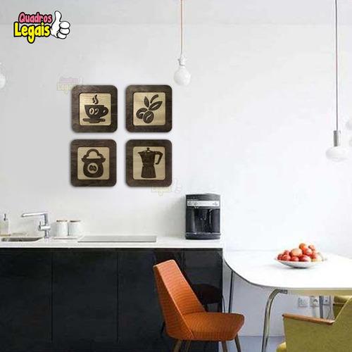 quadros cozinha café em madeira 30cm dolcegusto nespresso