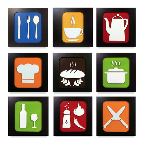 quadros cozinha decorativos restaurante sala trio promoção