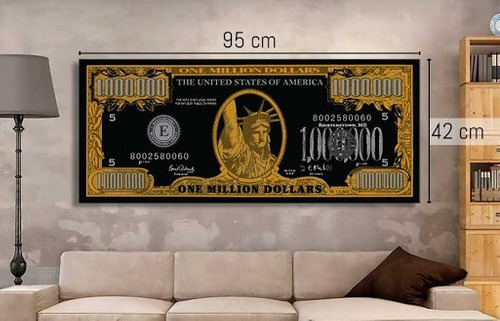 quadros de um milhão de dólares 3d - 1 peça