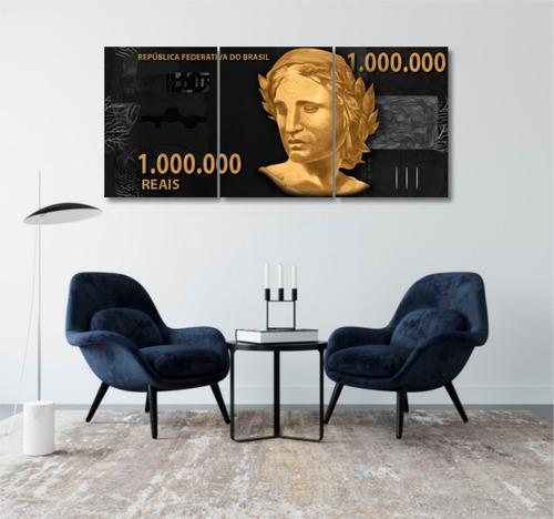 quadros decoração investidor dinheiro 1 milhão reais mdf 6mm