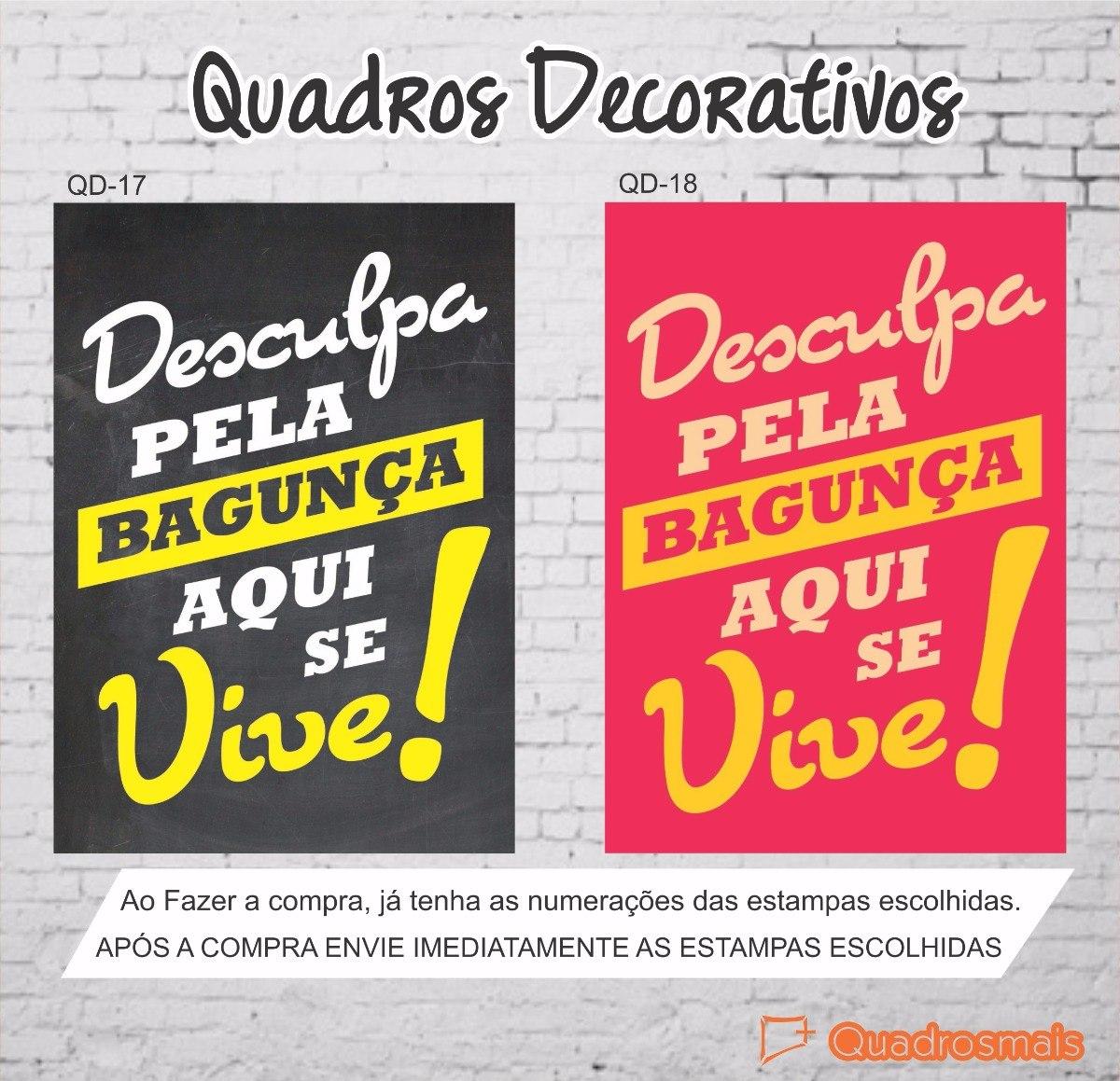 Quadros Decorativas Frases Motivacionais Divertido 30x22