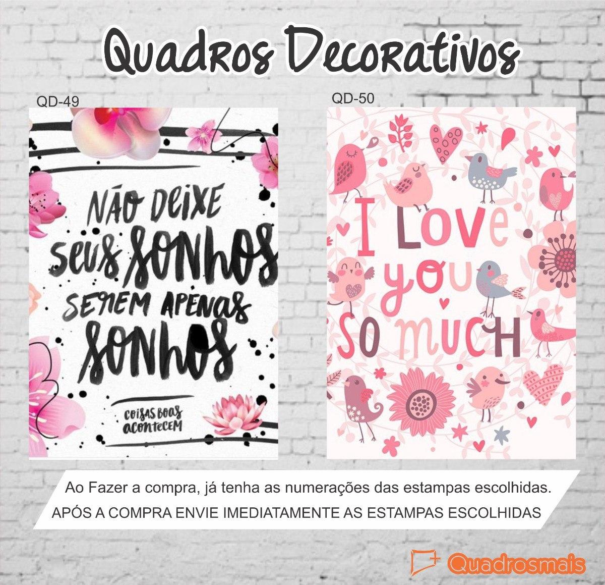 Quadros Decorativas Frases Motivacionais Divertido 40x30