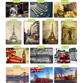 Quadros Decorativas Retro Pontos Turísticos Mdf Grosso 4mm