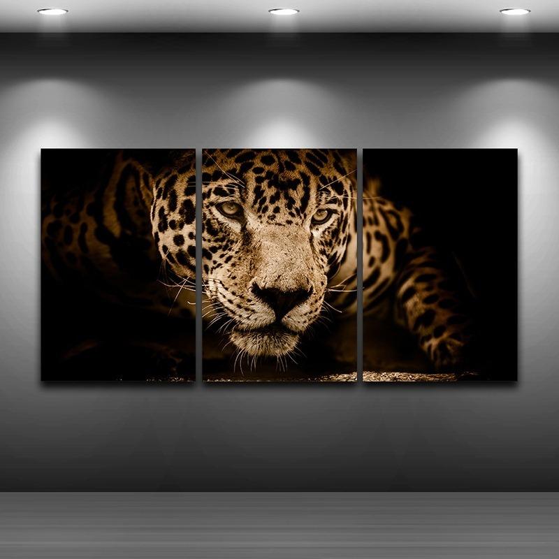 Quadros Decorativos 3 Pecas Onca Pintada Amazonia R 120 11 Em