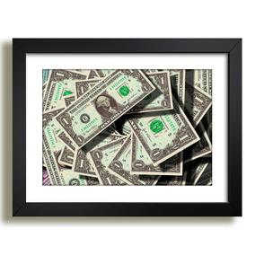 60da92528 Quadro De Nota De 1 Dolar - Artesanato no Mercado Livre Brasil