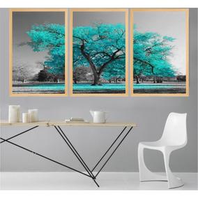 0dd521f9b5b62 Quadro Árvore Azul - Quadros Decorativos no Mercado Livre Brasil
