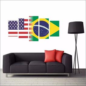 28657c0281ce3 Quadros Bandeiras Paises no Mercado Livre Brasil