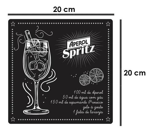 quadros decorativos acrílico gourmet bebidas aperol spritz