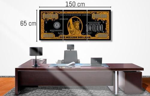 quadros decorativos de um milhão de dólares 3d - 3 peças
