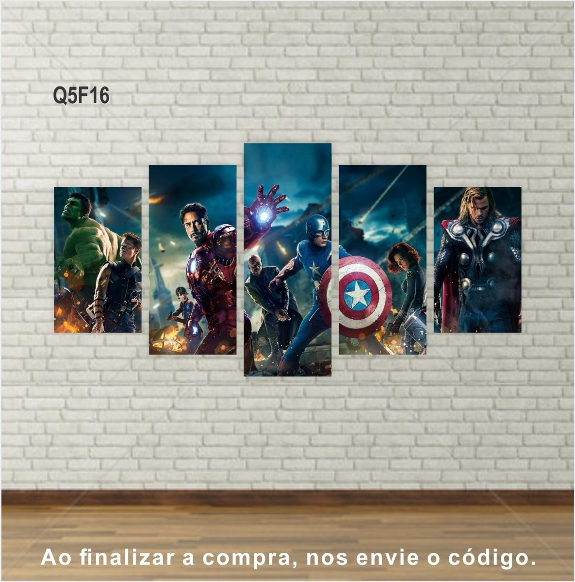 28357c128 Quadros Decorativos Filmes E Series Telas Em Canvas Conj. 5 - R$ 167 ...