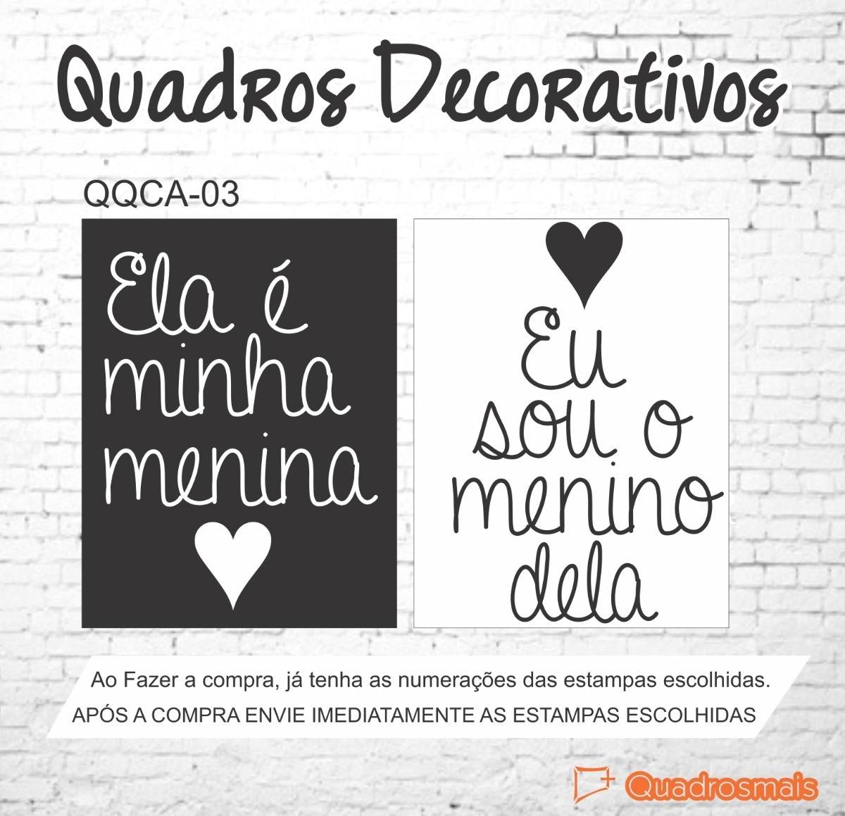 Quadros Decorativos Frases Romanticas Quarto Casal 2un 50x40