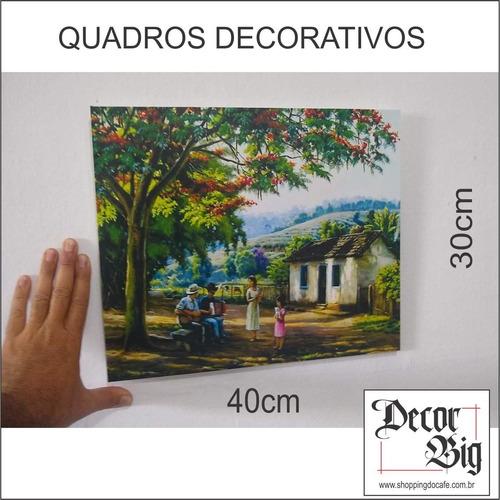 quadros decorativos médio 40cm x 30cm paisagem, sítio
