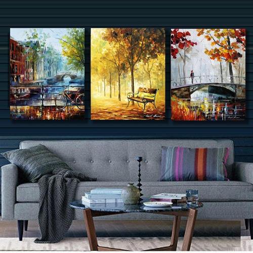 quadros decorativos  paisagens salas tela canvas algodão