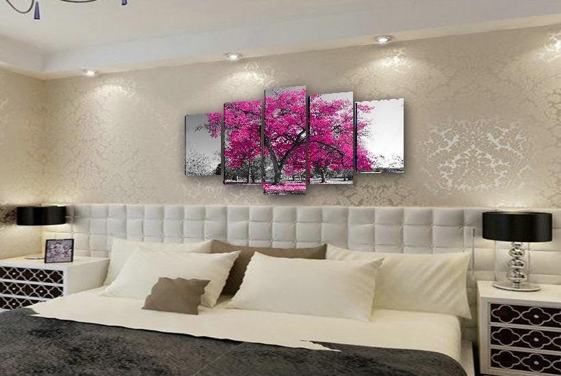 442c37087 quadros decorativos para quarto de casal 5 telas - chique. Carregando zoom.