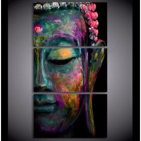 Quadros Decorativos Vertical Buda Estatua Colorida