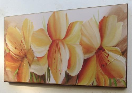 quadros flores p sala quarto sala - frete gratis