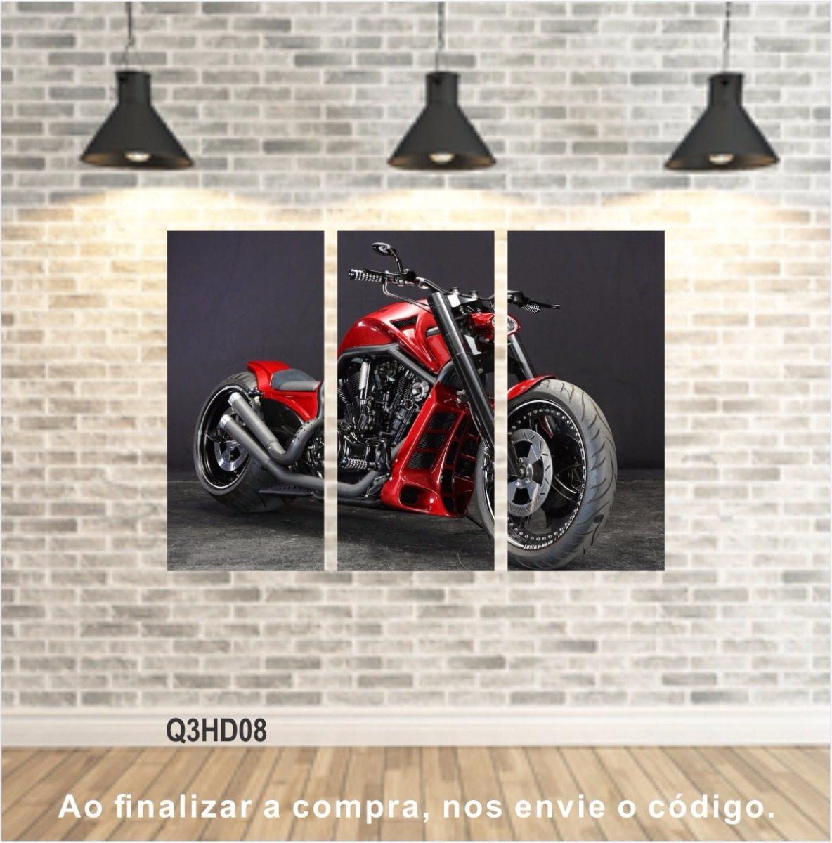 quadros motos motorcycle harley davidson vintage retro 95x65. Carregando  zoom.