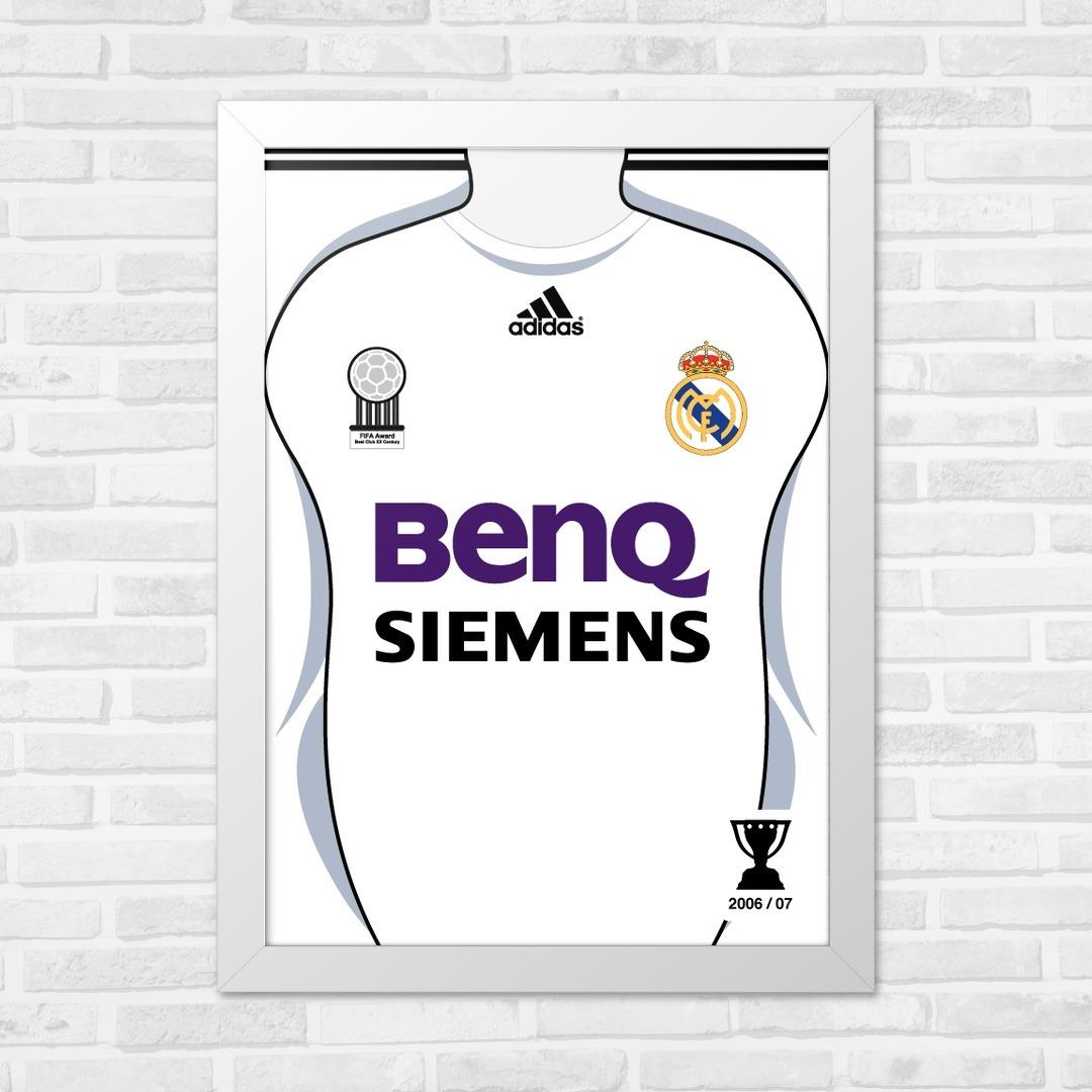 competitive price 47133 b309d Quadros Para Barbearia A4 Real Madrid La Liga 06/07