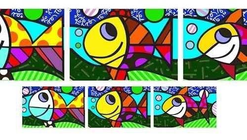 quadros  romero britto  três peixes