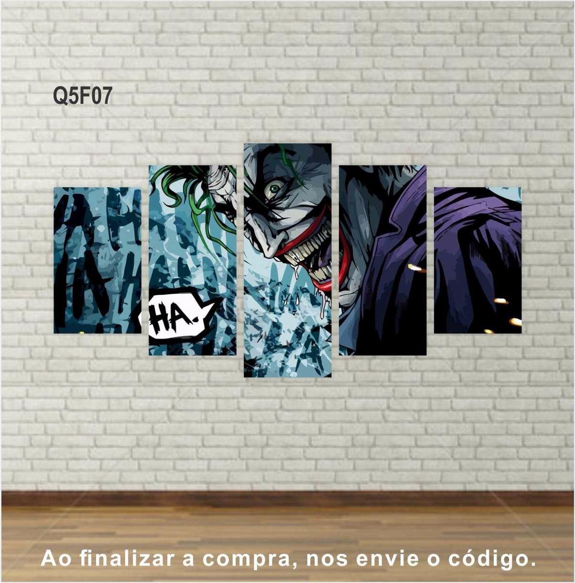 f84315185 Quadros Telas Em Canvas Filmes E Series Decorativos Conj. 5 - R$ 167 ...