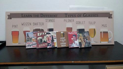 quadros telas placas retro vintage bebidas beer heineken