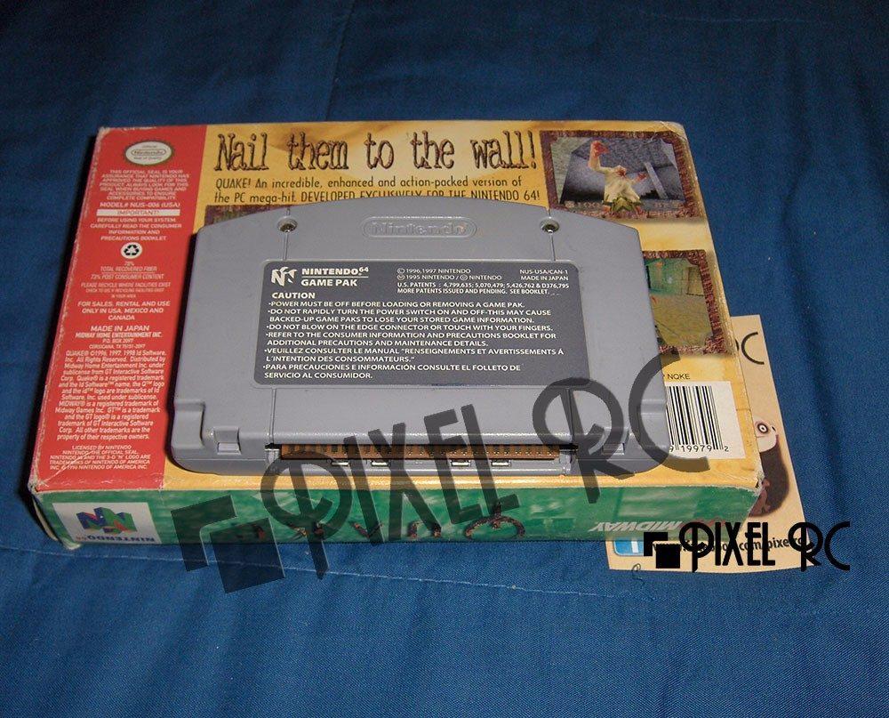 Quake 64 Caja/manual Original N64 Pixel Rc - $ 119 000