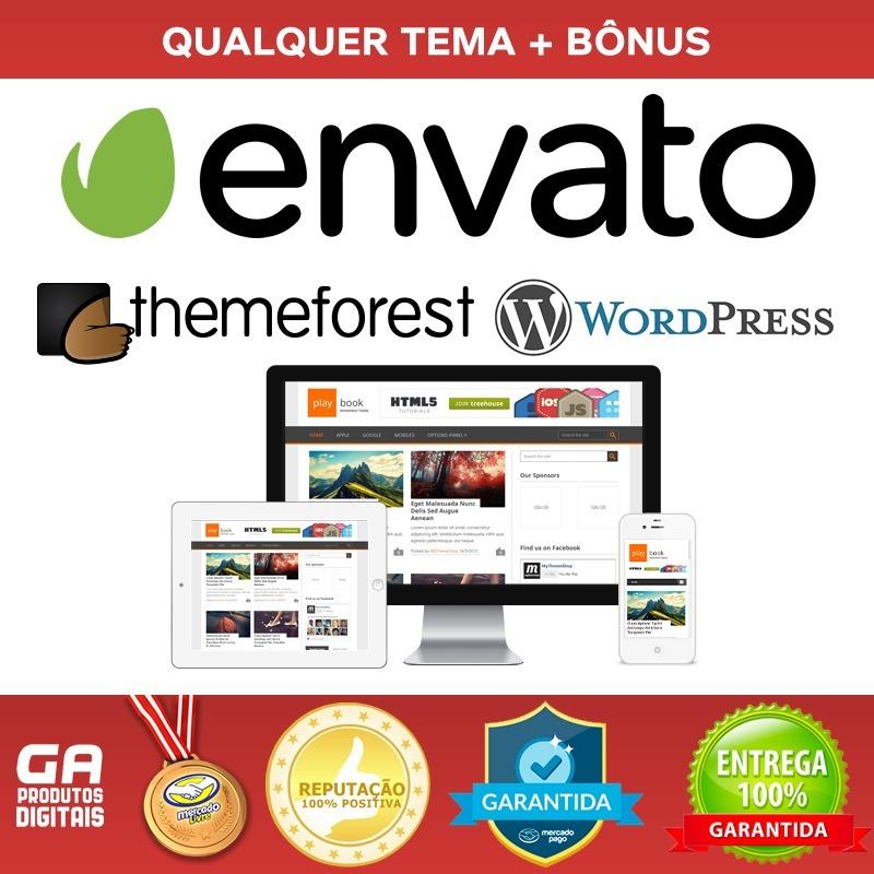 Qualquer Tema Wordpress - Envato, Themeforest - Original - R$ 14,50 ...