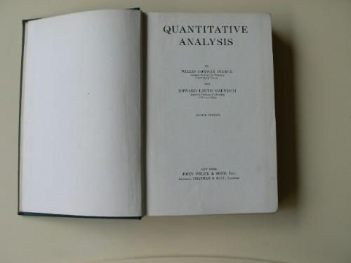 quantitative analysis  de pierce and haenisch