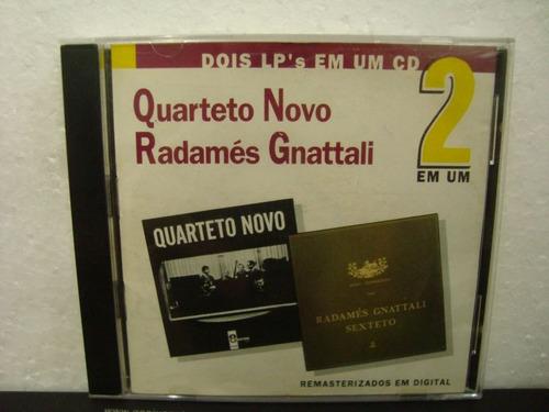 quarteto novo & radamés gnattali - quarteto... - cd nacional