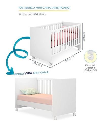 quarto de bebê helena  roupeiro + cômoda + berço 100+colchão