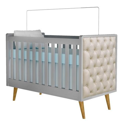 quarto de bebê lorena 3p cinza amadeirado - carolina