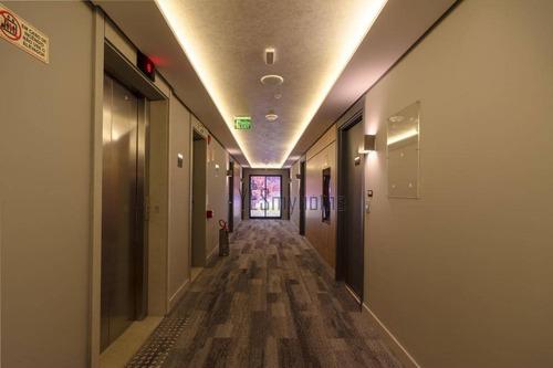quarto de hotel de alto padrão a venda no batel - totalmente mobiliado e decorado. - fl0001