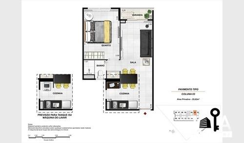 quarto e sala em frente ao projac mobiliado - 296