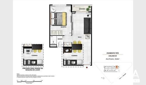 quarto e sala na bandeirantes arte studio - financie direto - 296