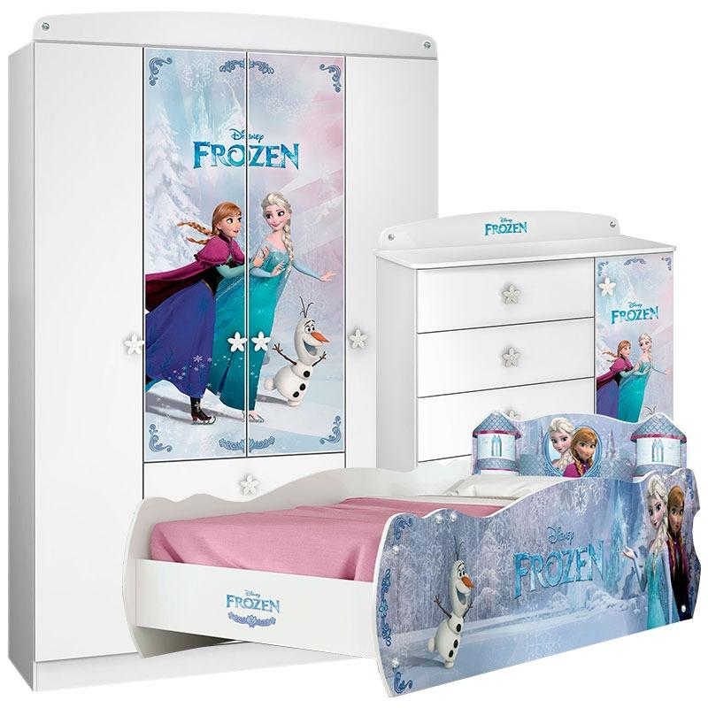 6bf23832bf quarto infantil com cama 7a frozen star - pura magia. Carregando zoom.